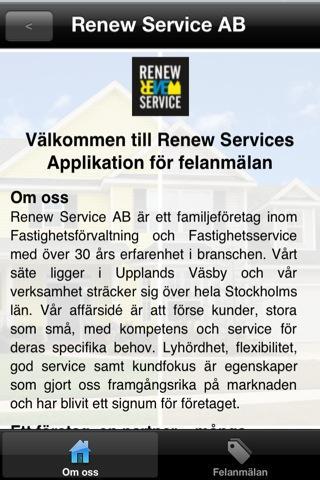 Felanmälan - Renew Service