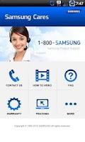 Screenshot of Samsung Cares
