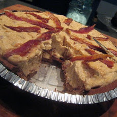 Frozen Peanut Butter Pie With Candied Bacon