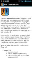 Screenshot of Run / Walk Intervals Timer