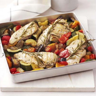 Rosemary Chicken With Oven-roasted Ratatouille
