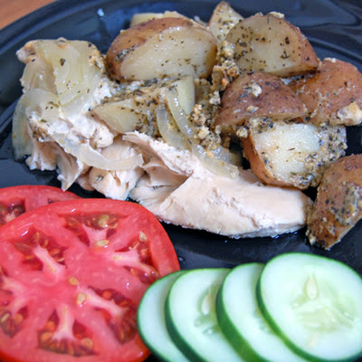 Italian Parmesan Herb Chicken and Potatoes in the Slow Cooker