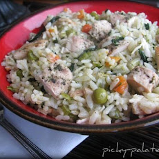 Romano Ranch Chicken and Rice Skillet Dinner
