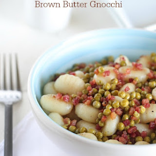 Pancetta and Sweet Pea Brown Butter Gnocchi
