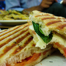 Caprese Panini (Mozzarella, Tomatoes and Basil)