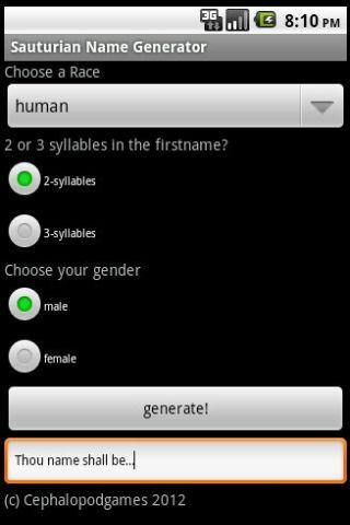 Sauturian name Generator