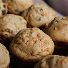 Dark Carrot Raisin Muffins