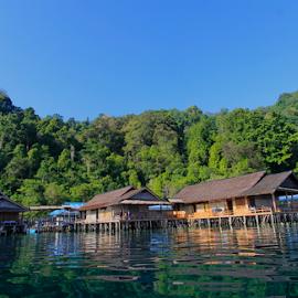 Lisar Bahari guest house by Leonardus Nyoman - Buildings & Architecture Office Buildings & Hotels ( sawai, guest house, moluccas, indonesia., lisar bahari, north seram island )