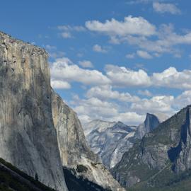 el capitan and half dome  by Tim Hauser - Landscapes Mountains & Hills ( mountains, half dome, yosemite, el capitan, art, fine art, national parks, el capitan and half dome )