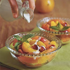 Fresh Fruit With Lemon-Mint Sauce