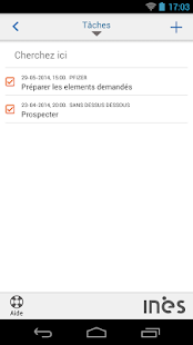 INES CRM - screenshot