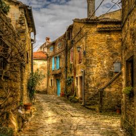 Groznjan, old street by Siniša Biljan - City,  Street & Park  Street Scenes