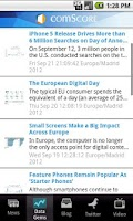 Screenshot of comScore News