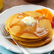 Pumpkin Pancakes with Sweet Apple Cider Syrup