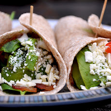 Shannon's Chicken Feta Spinach Tomato Wraps