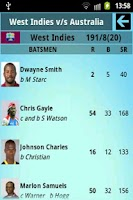 Screenshot of T20 World Cup 2012 - Live