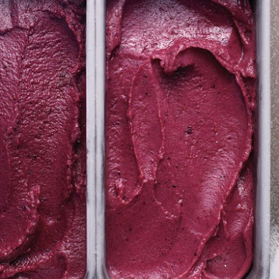 Blueberry Buttermilk Sherbet