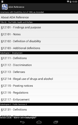 ADA Reference - screenshot