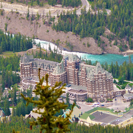Hotel at Lake Louise by Thakkar Mj - Buildings & Architecture Office Buildings & Hotels ( lake louise, canada, exterior, hotel, landscape,  )