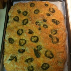 Cheese and Jalapeno Focaccia Bread