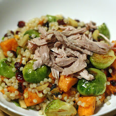 Thanksgiving Leftovers Salad with Sweet Potatoes and Brussels Sprouts