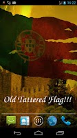 Screenshot of 3D Portugal flag LWP