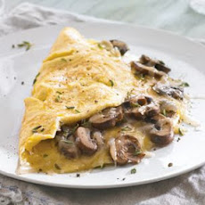 Mushroom Omelette with Fontina and Thyme