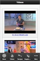 Screenshot of Dr. OZ Fan App
