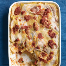 Tomato, Pasta, and Potato Bake