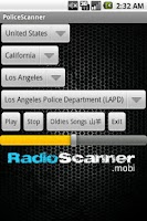 Screenshot of Police Scanner Radio Scanner