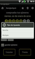 Screenshot of Comprobar Sorteos y Loterias