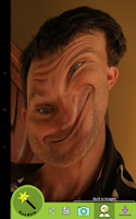 Screenshot of Goofy Glass (Face Morph)
