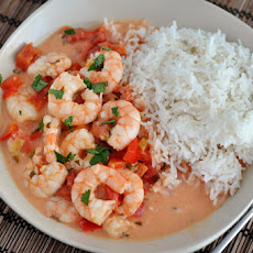 Garlic Shrimp in Coconut Lime Tomato Sauce