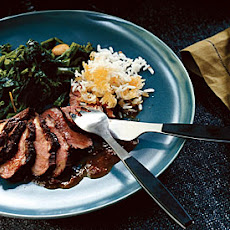 Broiled Duck Breasts with Orange Chipotle Sauce