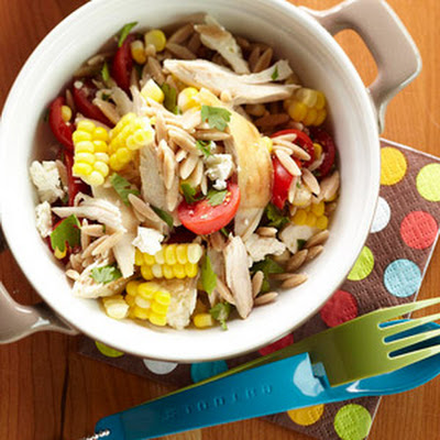 Orzo Chicken Salad with Avocado-Lime Dressing