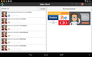 Screenshot of Saba Cloud