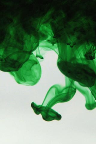 Green dye in water