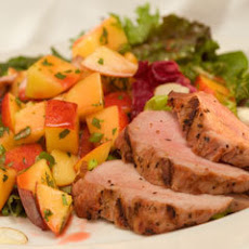 Grilled Pork With Summer Fruit Salsa