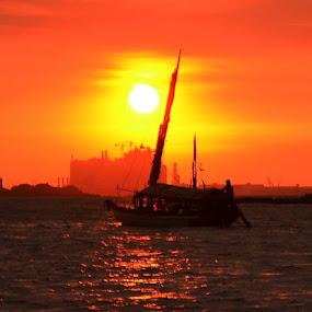 perahu layar...@ancol by Dwi Ratna Miranti - Transportation Boats