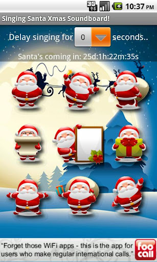 singing-santa-xmas-soundboard for android screenshot