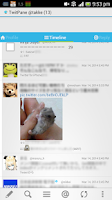 Screenshot of TwitPane for Twitter