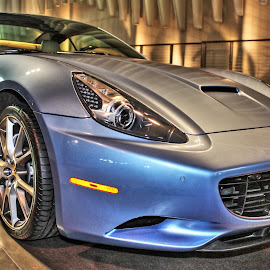 Baby Blue California by Hendra Yap - Transportation Automobiles