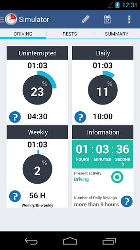 Mobile Tachograph - screenshot