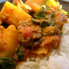 Lamb, Potato & Spinach Curry