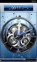 Screenshot of Tia Locker Blue Watch Theme