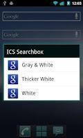 Screenshot of Tiwiz ICS Search Bar