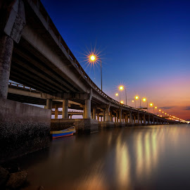 Dawn - Penang Bridge by Nixȫn Ɲixon - Buildings & Architecture Bridges & Suspended Structures ( sunset, penang, malaysia, bridge, sunrise )