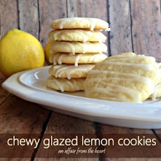 Chewy Glazed Lemon Cookies