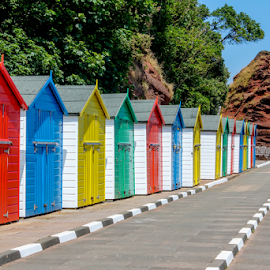 Dawlish Beach Huts by Martin Lee - Buildings & Architecture Other Exteriors