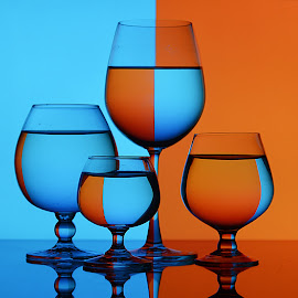 Bold colors by Rakesh Syal - Artistic Objects Still Life ( blue, orange. color )